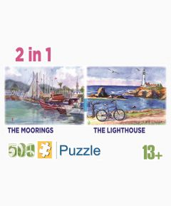 Set of 2 500pc Jigsaws - The Moorings/The Lighthouse