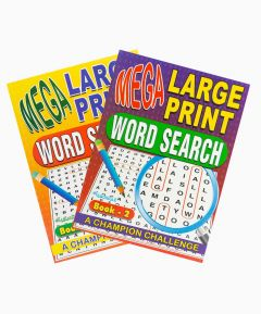Word Search Large Print - Set of 2
