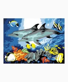 Painting By Numbers - Dolphins