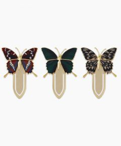 Gold Plated Butterfly Bookmarks - Set of 3