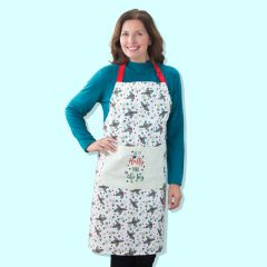 Holly Print Apron