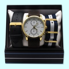 Mens Watch & Strap Set