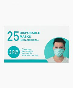 Disposable Face Masks Box of 25