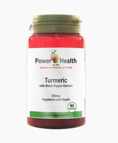 Power Health Turmeric With Black Pepper Extract 500mg Vegan 90 Capsules