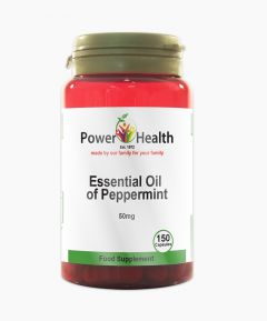 Power Health Essential Oil Of Peppermint 50mg 150 Capsules