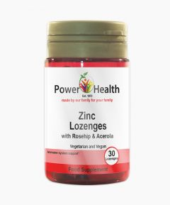 Power Health Zinc Lozenges With Rosehip And Acerola 30 Lozenges.