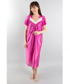 Pink Satiny Nightgown
