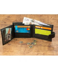 Real Leather Wallet in Black