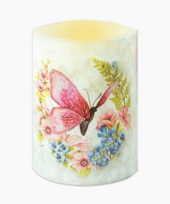 Elegant Butterfly Candle - Pink
