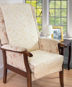 Quilted Chair Cover Leaf Trail