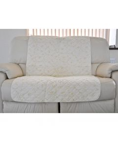 Quilted Settee Cover Leaf Trail