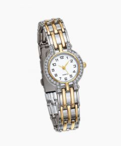 Two Tone Crystal Watch