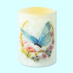 LED Butterfly Candle - Blue