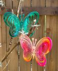 Iridescent Hanging Butterfly Garden Decoration - Pack of 2