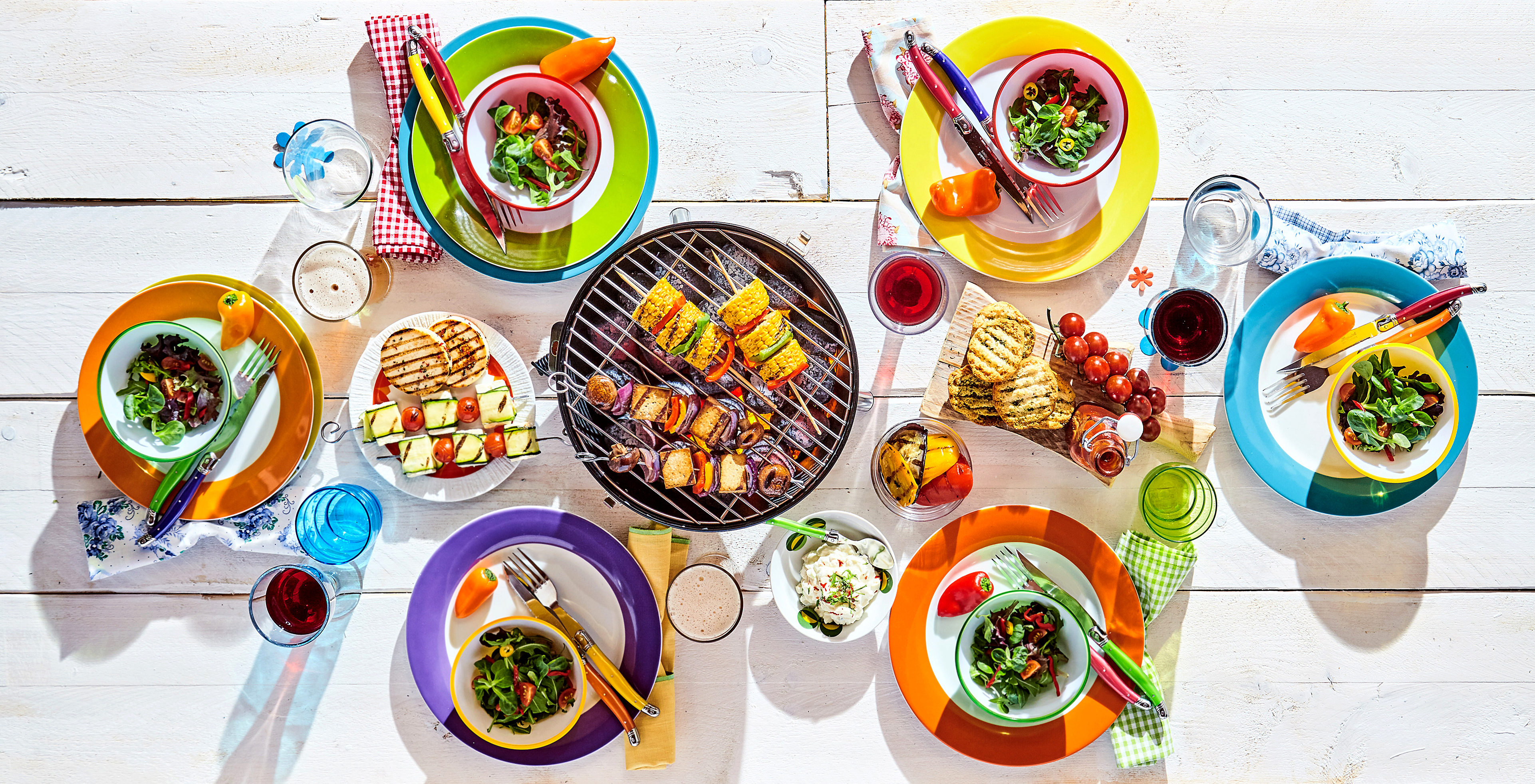 A selection of summer foods.