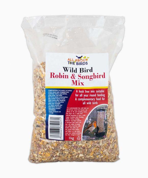 A bag of bird food.